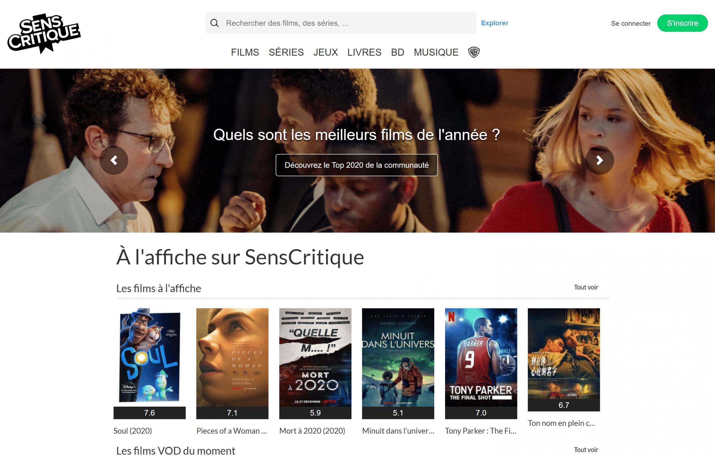 SensCritique - How to register movies and tv shows on SensCritique